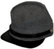 plain Confederate Enlisted Kepi in Richmond gray