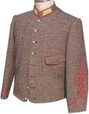 C.S. Artillery Captain's  Shelljacket, American Civil War Uniforms