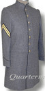 CSMC Enlisted Frockcoat (Confederate Marines) Medium Gray Front View, American Civil War