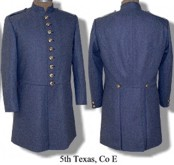 C.S. 5th Texas, Company E frock coat.