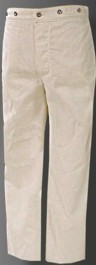 USMC (Marine Corps) M1885 White Canvas Duck Trousers, 19th Century (1800s) Clothing
