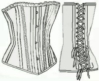Ladies Corset Style A. Victorian & Civil War underpinnings