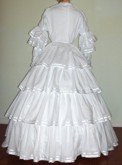 1848 Day, Evening or Wedding Fan Front Dress, 19th Century (1800s) Ladies