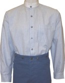 Shirt, Jasper in Blue and White Stripe - takes detachable collars