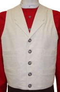 Civilain Single Breasted Notched Collar Collar Vest, 19th Century (1800s) Men's Clothing