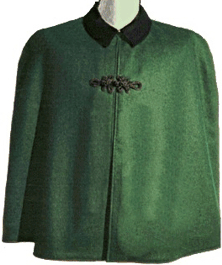 Civilain Cape in Green, 19th Century (1800s) Men's Clothing