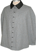 Civilain Cape in Mediun Grey with Buttons, 19th Century (1800s) Men's Clothing