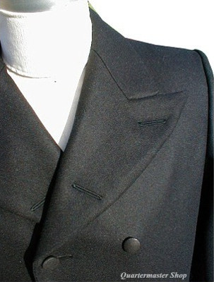 Abraham (Abe) Lincoln Frock Coat, collar detail