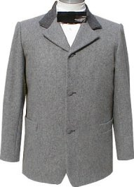 Civilain Sack Coat in Bankers Grey, 19th Century (1800s) Men's Clothing
