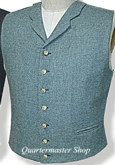 U.S. Civil War Military Notched Collar Vest - sky blue, American Civil War Uniforms