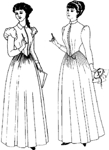 Late 1880-1892 Day Dress. By Past Patterns #903, 19th Century