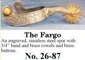 The Fargo Spurs, by Colorado Saddlery