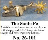 The Sante Fe Spurs, by Colorado Saddlery