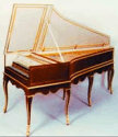 18th Century Brown Hemsch Double Manual Harpsichord