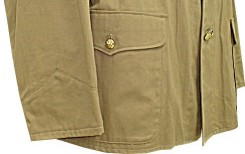 M1899 Officers Khaki Field Blouse, Infantry - cuff / pocket detail