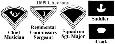 Indian Wars & Span-Am War Chevrons - 1899 on