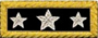 U.S. Shoulder Boards, Lieutenant General: 3 Star