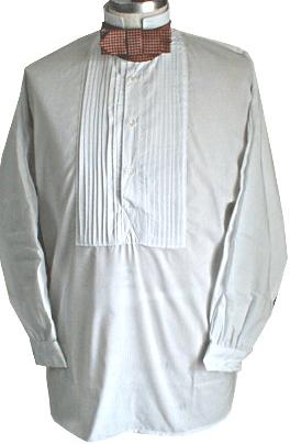 White Collared Shirt Men